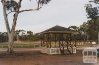 Bandstand (1886) and oval, Tarnagulla, 2010