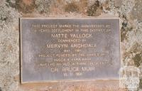 Plaque at Natte Yallock, 2010