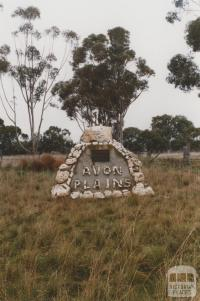 Avon Plains cairn for school, 2010