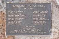 Honour Roll Homebush, 2010
