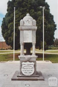 War Memorial, Bentleigh, 2010