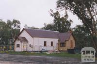 Hall under reconstruction, Osbornes Flat, 2010
