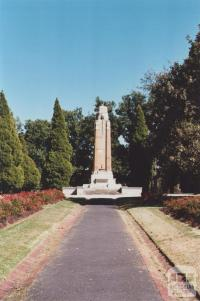 St James Park Memorial, Hawthorn, 2012