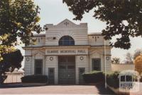 Memorial Hall, Elmore, 2012