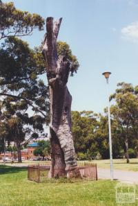 Scarred Tree, Yarra Park (Richmond Ground in the backgound), 2000