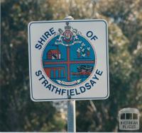 Roadside sign Strathfieldsaye Shire, 1985