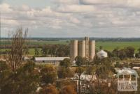 Silos and farmland, Wycheproof, 1980