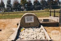 Headstone of the Man from Snowy River, Jack Riley, Corryong, 1980