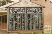 Honour Board, Charlton, 1980