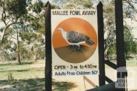Mallee Fowl Aviary, Nhill, 1980