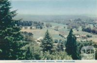 Panorama from Pioneer Memorial Tower, Daylesford, 1957