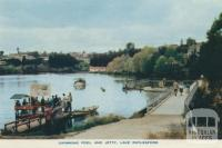 Swimming pool and jetty, Lake Daylesford, 1957