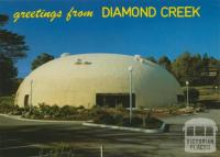 The striking dome-shaped Diamond Creek Community Centre