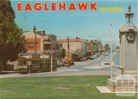 The Cenotaph and High Street, Eaglehawk