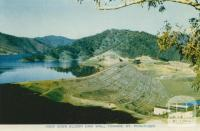 View over Eildon Dam Wall, toward Mt Pinniger