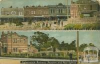Elsternwick Railway Reserve and Post Office, 1908