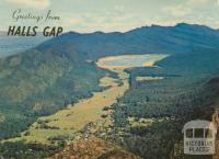 Halls Gap, Fyans Valley and Lake Bellfield from Mt Difficult Lookout