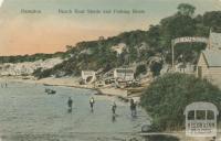 Beach boat sheds and fishing boats, Hampton