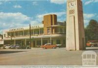 Memorial Clock and Commercial Hotel, Kerang, 1965