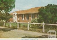 High School, Kerang, 1965