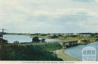 Overlooking North Arm and Bridge, Lakes Entrance, 1955