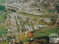 Aerial view of Leongatha