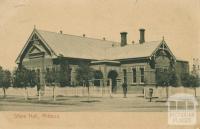 Shire Hall, Mildura, 1913