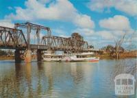 PS Melbourne and Lifting Span Bridge, Mildura, 1973
