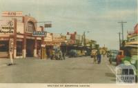 Section of shopping centre, Mornington, 1951