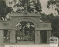 View of Soldiers' Memorial Gates, Murtoa