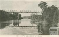 Genoa River and Bridge, Genoa, 1947