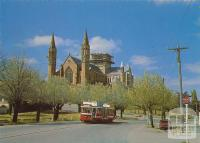 The Sacred Heart Cathedral looking from High Street, Bendigo