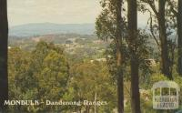 View across Monbulk from the Olinda Road, Dandenong Ranges, 1984