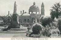 Queen Victoria Monument and Soldiers' Memorial Hall, Bendigo