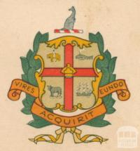 Melbourne City Armorial Bearings: original and correct design version granted by College of Heralds in 1970
