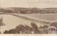 Footbridge to the beach, Lakes Entrance