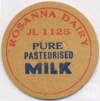 Rosanna Dairy Token, 1925