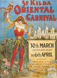 St Kilda Carnival Poster (reproduction), 1990