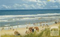 Overlooking the beach, Seaspray, 1975