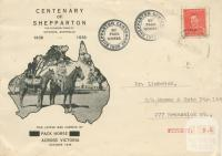 Centenary of Shepparton, mail by pack horse, 1938