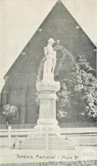 Soldiers Memorial, Main Street, Stawell, 1935