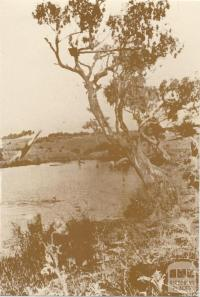 Kororoit Creek at Forrest Street, Sunshine, c1930