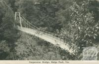 Suspension Bridge, Bulga Park, 1949