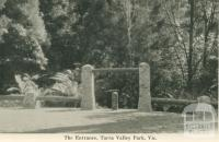 The Entrance, Tarra Valley Park, 1949