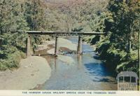 The Narrow Gauge Railway Bridge Over the Thomson River, Walhalla