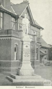 Soldiers' Monument, Warracknabeal, 1925