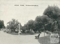 Anzac Park, Warracknabeal, 1945