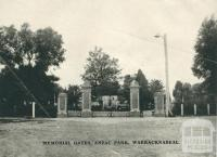 Memorial Gates, Anzac Park, Warracknabeal, 1945