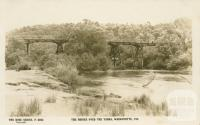 The bridge over the Yarra, Warrandyte, 1921
