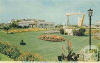 A corner of the gardens at Fletcher Jones Factory, Warrnambool, 1960